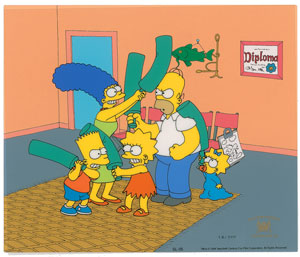 The Simpsons limited edition cel from The Simpsons