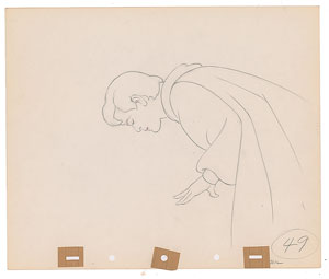 Prince Charming production drawing from Snow White and the Seven Dwarfs