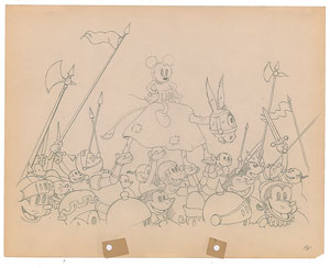 Mickey Mouse production drawing from Ye Olden Days