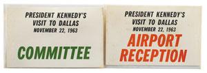 John F. Kennedy Dallas Visit Badges