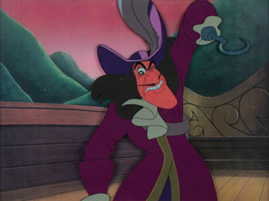 Captain Hook production cel from Peter Pan