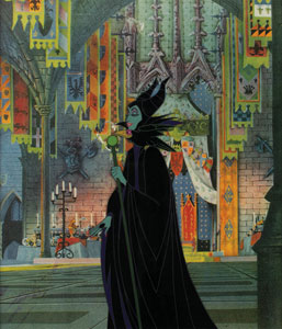 Maleficent and Diablo production cel from Sleeping Beauty