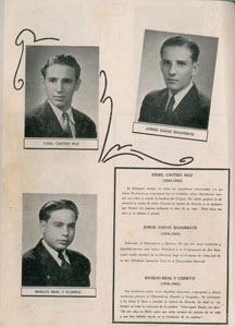 Fidel Castro Group of (3) Yearbooks