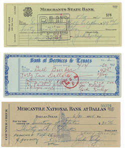 Jack Ruby Group of (3) Signed Checks