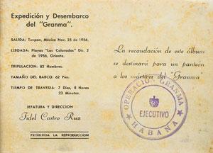 Fidel Castro 'Operation Granma' Booklet