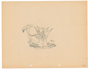 Mickey and Minnie Mouse production drawing from Mickey in Arabia