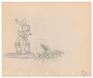 Donald Duck production drawing from Moose Hunters