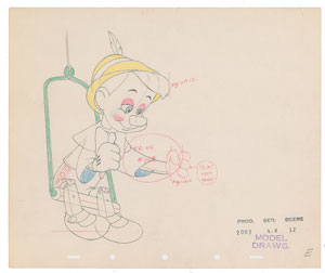 Pinocchio production drawing from Pinocchio