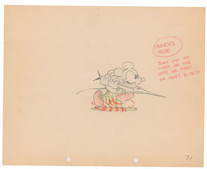 Mickey Mouse production drawing from Shanghaied