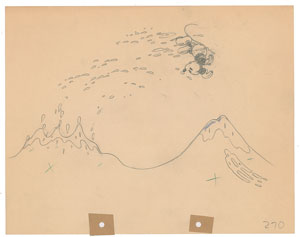 Mickey Mouse production drawing from Gulliver Mickey