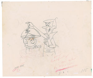 Title Sequence production drawings from The Jetsons