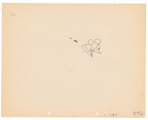 Mickey Mouse production drawing from Plane Crazy