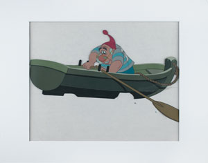 Mr. Smee production cel from Peter Pan