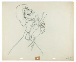 Joe production drawing from Lady and the Tramp