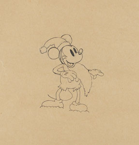 Mickey Mouse production drawing from Mickey's Good Deed