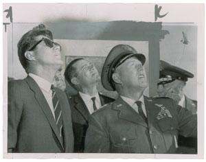 John F. Kennedy and Robert S. McNamara Original Wirephoto