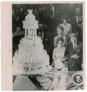 John F. Kennedy 1962 Birthday Original Wirephoto