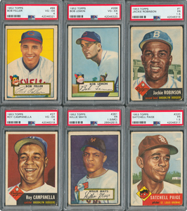 1952-53 Topps Collection with Near 1953 Card Set and (7) PSA Graded