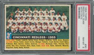 1956 Topps #90 Redlegs Team (Dated) - PSA NM-MT 8 - Six Higher!