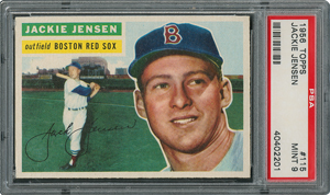 1956 Topps #115 Jackie Jensen - PSA MINT 9 - one Higher!