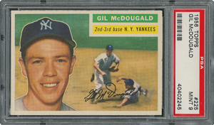 1956 Topps #225 Gil McDougald - PSA MINT 9 - one Higher!