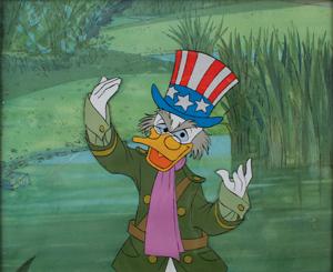 Ludwig Von Drake production cel from Walt Disney's Wonderful World of Color