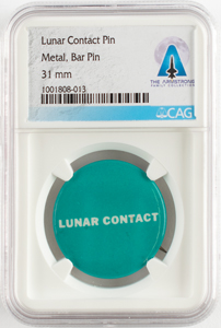 Neil Armstrong's Lunar Contact Pin