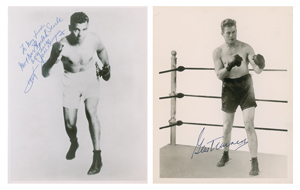Jack Dempsey and Gene Tunney