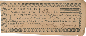 Washington City Canal Lottery Ticket