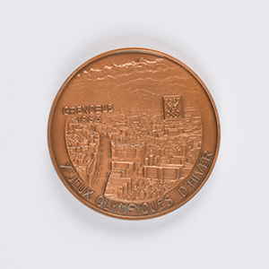 Grenoble 1968 Winter Olympics Bronze Participation Medal