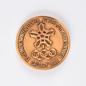 Calgary 1988 Winter Olympics Bronze Participation Medal