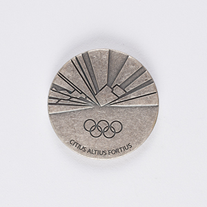 Torino 2006 Winter Olympics Pewter Participation Medal