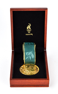 Presentation version of 1996 Atlanta Gold Winner's Medal