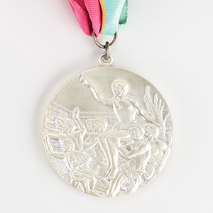 Los Angeles 1984 Summer Olympics Silver Winner's Medal with Diploma and Participation Medal