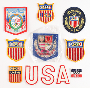 Team USA Team Members' Olympic Patch Collection