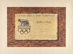 Rome 1960 Summer Olympics Winner's Diploma