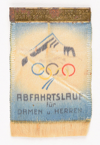 Garmisch 1936 Winter Olympics Silk Ticket