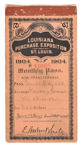 St. Louis 1904 Exposition and Olympics Ticket Booklet