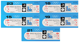 Lake Placid 1980 Winter Olympics Eric Heiden Ticket Collection