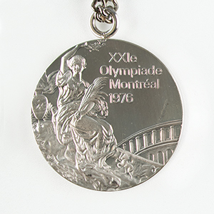 Montreal 1976 Summer Olympics Unawarded Silver Winner's Medal with Case