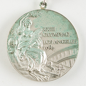 Los Angeles 1984 Summer Olympics Unawarded Silver Winner's Medal with Case