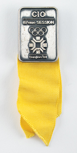 Sarajevo 1984 Winter Olympics IOC Session Badge for TV