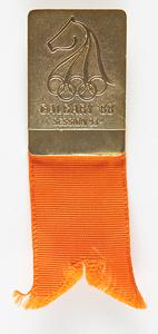 Calgary 1988 Winter Olympics IOC Session Badge