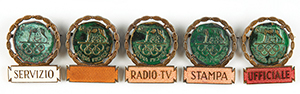 Rome 1960 Summer Olympics Group of (5) Badges