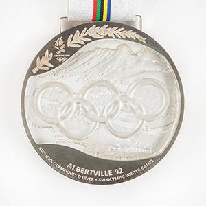 Albertville 1992 Winter Olympics Silver Winner's Medal
