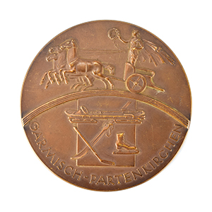 Garmisch 1936 Winter Olympics Bronze Winner's Medal with Diploma