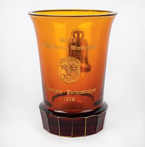 Garmisch 1936 Winter Olympics Glass Vase