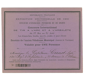 Paris 1900 Olympics Pass