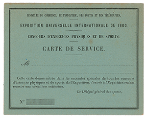 Paris 1900 Olympics Passes