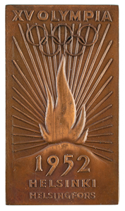 Helsinki 1952 Summer Olympics Torchbearer Plaque